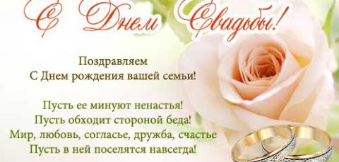 Свадебные поздравления для молодоженов от родителей
